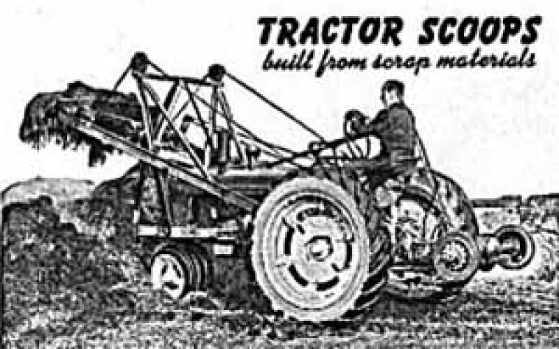 Tractor Scoop Loader Attachment